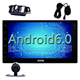 Eincar Android 6.0 Radio autoradio 7 pollici Doppio Din capo dell'Unit¨¤ di supporto GPS Sat Navigazione, Lettore DVD, Bluetooth 4.0, MirrorLink, Wi-Fi 3G 4G, AM FM RDS Radio, SWC, 64GB USB SD, HD 10