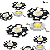 PerGrate 10/20/30 / 40Pcs High Power Chip Licht Perlen LED Birne Lampe Bead mit PCB Platine Kühlkörper