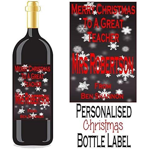 Eternal Design–Etichetta di Natale/Spirito Bottiglia di vino xdwl 9 - Vino Di Natale Etichetta