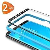 Bewahly für Panzerglas Schutzfolie für Samsung Galaxy S9 [2 Stück], 3D Curved Panzerglasfolie Ultra Dünn HD Bildschirmschutzfolie 9H Härte Folie mit Installation Werkzeug für Samsung S9 - Schwarz
