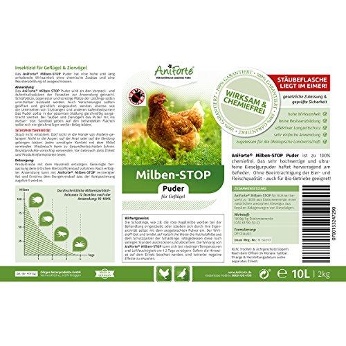 AniForte Milben-Stop Puder 2 kg inkl. Puderflasche - 5