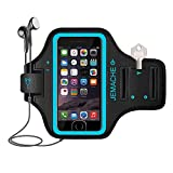 Best Accessory Power Running Armband For Samsung Galaxy S6 S6 Edges - iPhone 7/8 Armband, JEMACHE ID Touch Supported Gym Review