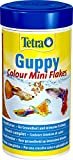 Tetra Guppy Colour, Mangime in Granuli per Pesci Tropicali, 250 ml