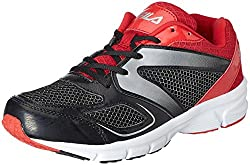 Fila Mens Antro Lite Black and Fila Red Running Shoes -6 UK/India(40 EU)(7 US)