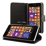 ECENCE Nokia Lumia 630/630 Dual SIM / 635 Custodia a Portafoglio Protettiva Wallet Case Cover 41020301