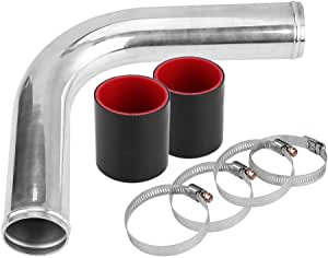 Kimiss Turbo 90 Grad Elbow Intercooler Pipe Mit 2 Silikonschlauch 4 Schellen Baumarkt