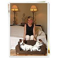 Cama de gamuza sintética para mascotas. Diseño con forma de sofá, 3 tamaños