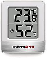 ThermoPro TP49 Mini Igrometro Termometro Digitale Termoigrometro da Interno per Casa Monitor di Temperatura e umidità...