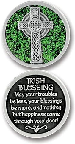 Cathedral Art PT622 Irish Blessing Companion Unique Decorative Coin, 1-1/4-Inch