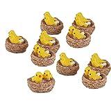 #10: Electomania 10pcs Toy Dollhouse Bonsai Fairy Garden Landscape Yellow Bird Decor