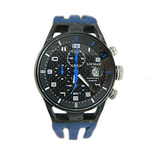Locman Mens Monte Cristo Carbon Chronograph Look Watch
