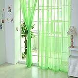 Hukz 1 Stück reine Farbe Tulle Tür Fenster Vorhang Drape Panel Sheer Schal Volants (C)