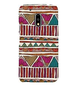 Fuson Designer Back Case Cover for Motorola Moto G4 :: Moto G (4th Gen) ( Ethnic Pattern Patterns Floral Decorative Abstact Love Lovely Beauty )