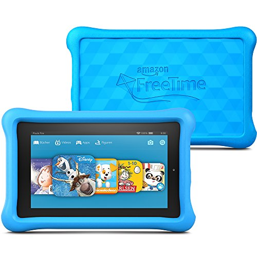 Fire Kids Edition, 17,8 cm (7 Zoll) Display, WLAN, 8 GB, Blau Kindgerechte Schutzhülle (Hd Kid-fall 7, Kindle Fire)