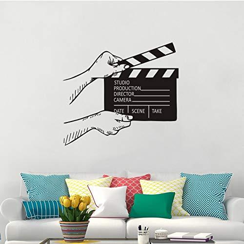 Film Filmklappe Wandtattoo Kino Dekor Film Film Wandmalereien Abnehmbare Filmklappe Aufkleber 57 * 64 cm ()