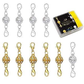 Aiskaer Gold Farbe und Silber Farbe Strass Ball Stil Magnet Hummer Verschlüsse für Schmuck Halskette Armband