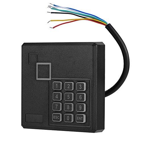 VBESTLIFE RFID Türöffner Codeschloss,Wasserdichte RFID Reader Linie Fehlerschutz 1-6 in Sense Access Control Kartenleser mit Tastatur -