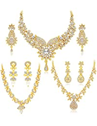 Sukkhi Jewellery Sets for Women (Golden) (413CB1900)