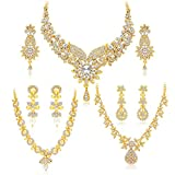 #5: Sukkhi Jewellery Sets for Women (Golden) (413CB1900)