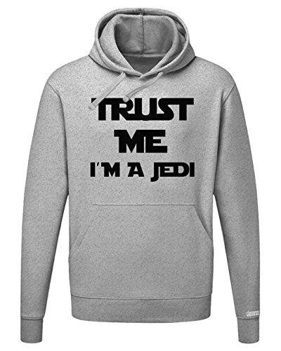 Jayess Trust me i´m a Jedi - Herren Hoodie Kapuzenpullover in Graumeliert by Gr. L