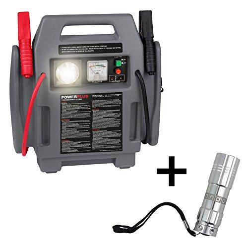 POWER plus Powerstation 4 in 1 Starthilfe Kompressor Notleuchte + anndora LED-Taschenlampe