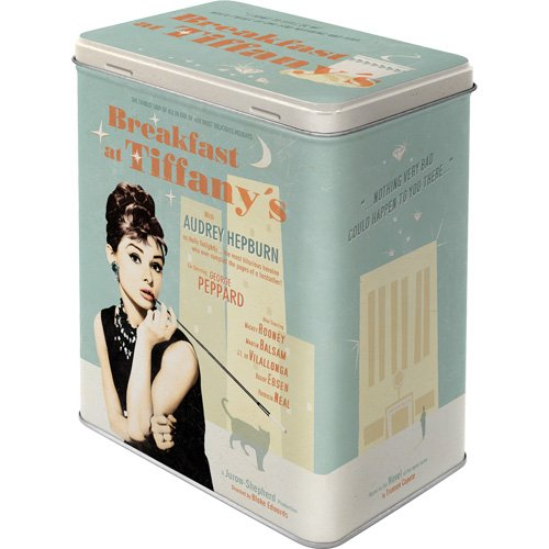 Nostalgic-Art 30119 Breakfast at Tiffany's Blue, Vorratsdose L