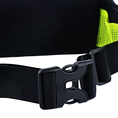 Wenyujh Damen Herren Unisex Gürteltasche Bauchtasche Hüfttasche Verstellbar Multifunktionen für Sport Reisen Outdoors Schwarz Blau