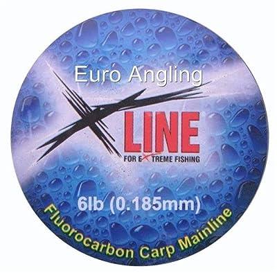 X Line Fluorocarbon Carp Fishing Line 600m Spool (17lb) by X Line