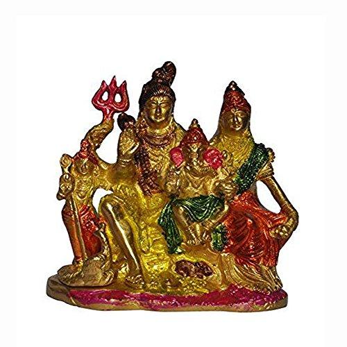 Craftspark Antique Shiv ji Family Shiva Parvati & Ganesh Handcrafted Stone Work...