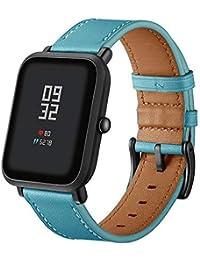 Correa de Reloj Reemplazo, YpingLonk Cuero Retro para Xiaomi Huami Amazfit Bip Youth Watch Moda Pulsera Banda Relojes Clásico…