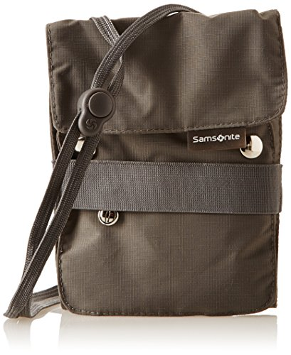 Samsonite Travel Accessor. V Kangaroo Neck Pouch Correas para equipaje, Gris (Gris)