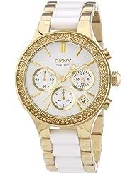 DKNY Damen-Armbanduhr Chronograph Quarz verschiedene Materialien NY8182