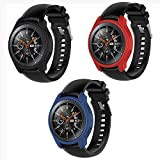 Mwoot 3 Unidades Funda para Samsung Galaxy Watch 46MM y Samsung Gear S3 Frontier (NO para Classic),...