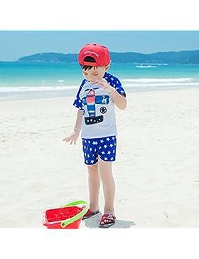 HAIYOUVK Dry And Wet Split Beach Pants Parent-Child Boy Handsome Cute Comfortable Swimwear Men'S Comfortable Soft...