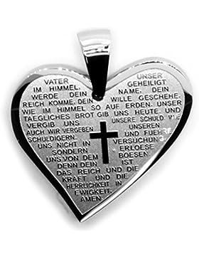 Kettenanhänger aus Edelstahl 'Vater Unser' Herz inkl. Gravur 410915