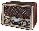 Soundmaster NR920DBR - DAB+ / UKW Nostalgie Radio in Dunkelbraun
