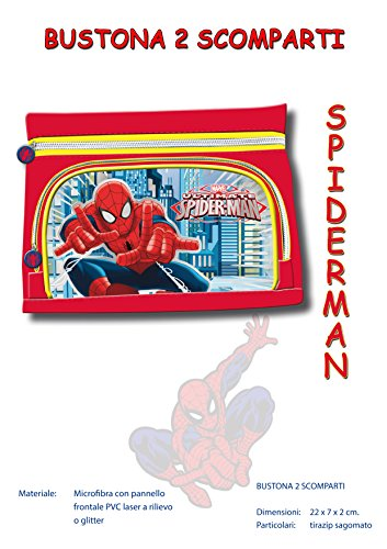 Bustina portapenne 2 zip blaze, frozen, spiderman, avengers ,minnie, wwe,barbie (spiderman)