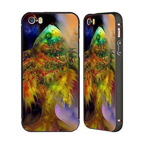 Ufficiale Runa Pesce Rosso Creature Del Mare Nero Cover Contorno con Bumper in Alluminio per Apple iPhone 5 / 5s / SE Pesci Verdi Magici