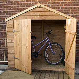 7ft W x 3ft D Wooden Bike Shed