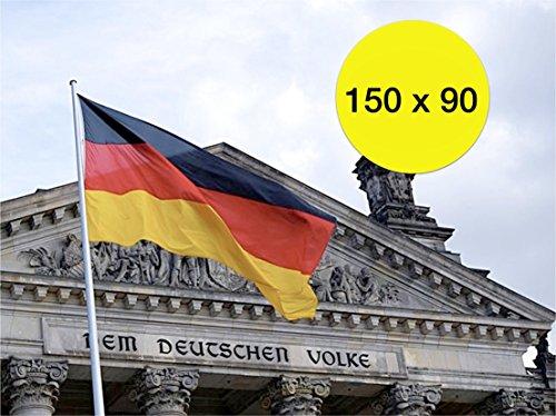 TK Gruppe Timo Klingler 2X Deutschland 90 * 150 cm Flagge Fahne Deutschlandfahne Deutschlandflagge Fanartikel WM EM Fußball, Handball UVM. mit Metallösen