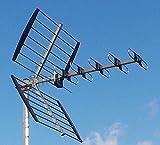 3H-UHF-22L - UHF / DVB-T / DVB-T2 Außen - Antenne 22 Elemente 9-13 dB(i) mit F-Buchse und hochwertigem Tube-Reflektor, geeignet für horizontale oder vertikale Montage, optional nachrüstbar zu einer aktiven Antenne mit bis zu 32 dB(i) - LTE-frei