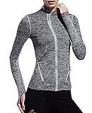 Sweatshirts T-shirt Femme Zipper Slim UV Protect Fast Dry Sport Fitness Tops Minzhi