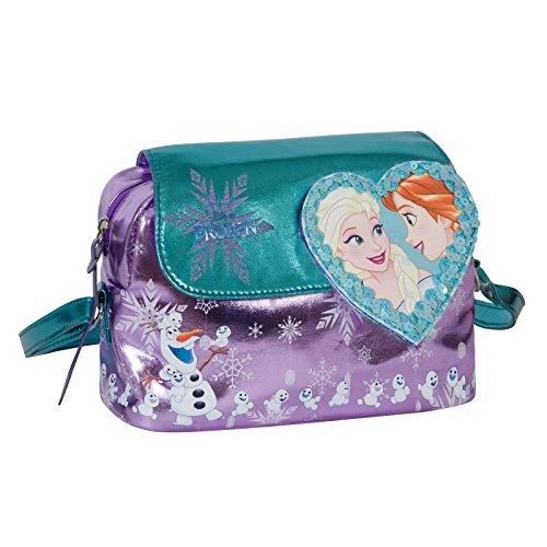 Disney frozen cuore magico - borsa a tracolla da bambina - colore viola