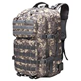 XRPXRP Military Tactical Attack Backpack - 45L Waterproof Daily Bag with Multiple MOLLE Attachment Points For Additional Accessories and Equipment