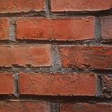 Klebefolie Möbelfolie Mauer Backstein rustikal - Dekorfolie Steinwand 45 cm x 15 Meter - Selbstklebende Folie, Selbstklebefolie, Bastelfolie