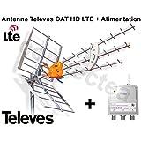 Televes DAT HD LTE BOSS 790 Antenne UHF TNT HD Trinappe 17 dB + Alimentation - Antenne Filtré 4G avec préamplificateur intégré + alimentation - Opensys