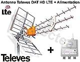 Televes DAT HD LTE BOSS 790 Antenne UHF TNT HD Trinappe 17 dB + Alimentation - Antenne Filtré 4G avec préamplificateur intégré + alimentation - Smartronics