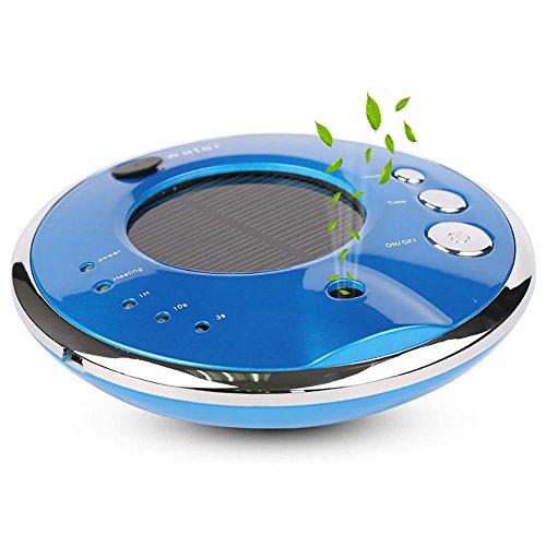 Wasser-luft-erfrischungsmittel (CZKQJHQ Auto Luftreiniger, Luftbefeuchter und Aroma-Diffusor, Solar oder USB aufladen , blue)