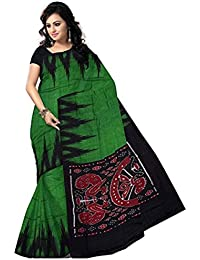 Odisha handloom Saree (Saree001_Green_Free Size)