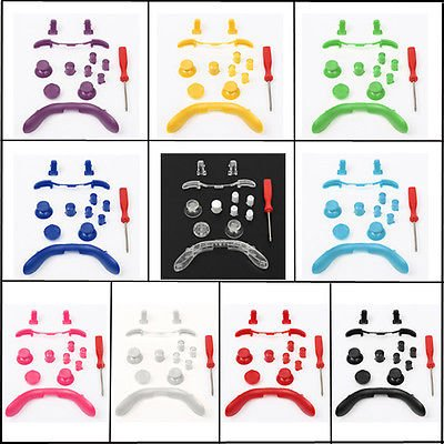 Generic Xbox 360Full mod kit Abxy Buttons, Sync, thumbsticks, lb, RB, LT, RT color  1& 1713* 1